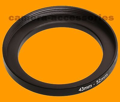 43mm to 52mm 43-52 Stepping Step Up Filter Ring Adapter 43-52mm 43mm-52mm