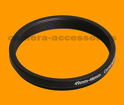 49mm to 46mm 49-46 Stepping Step Down Filter Ring Adapter 49-46mm 49mm-46mm