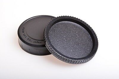 Pentax Takumar SMC 67 6x7 Medium Format Camera Body and Rear Lens Cap caps SET