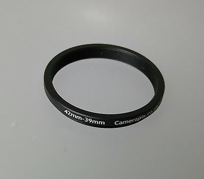 42mm to 39mm 42-39 Stepping Step Down Filter Ring Adapter 42-39mm 42mm-39mm M-F