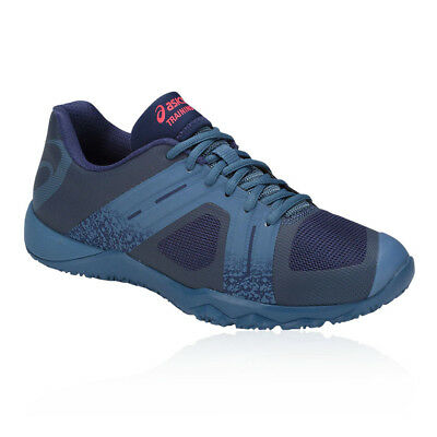 Asics Womens Conviction X 2 Training Gym Fitness Shoes Blue Breathable Trainers