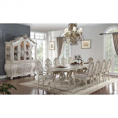 Phenomenal Acme Ragenardus Dining Arm Chair In Gray And Antique White Bralicious Painted Fabric Chair Ideas Braliciousco