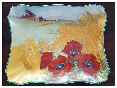 ROYAL DOULTON Series Ware 'Poppies In Cornfield' D5097 Rectangular Tray c.1932