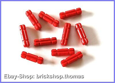 LEGO TECHNIC 10 x croce assi rosso - 32062 - Ascia 2 Notched Red - NUOVO/NEW