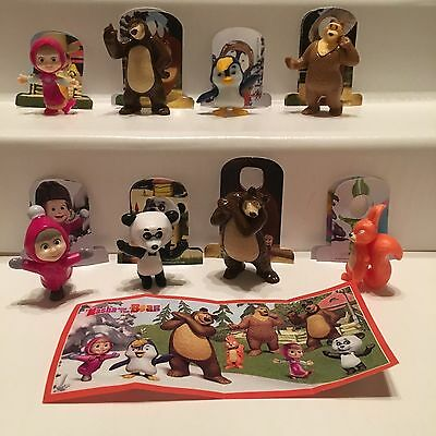 Serie Completa Masha And The Bear 4 (Sd344 - Tr161 B) + 8 Bpz Kinder Italia 2019