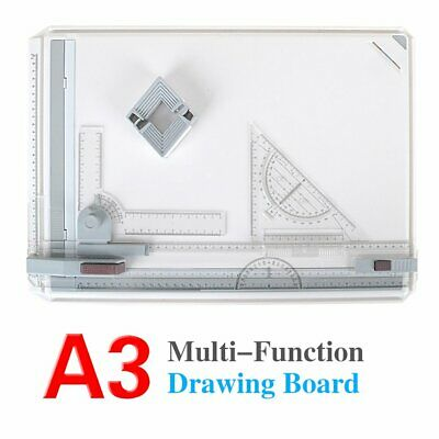 Office A3 Drawing Board Table Top Architects Technical Design Set w/Clamping Bar