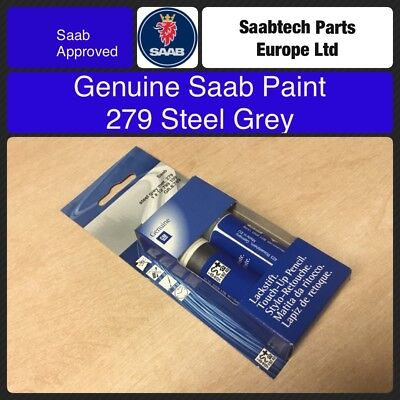 GENUINE SAAB Touch Up Paint. 279 Steel Grey 12799109