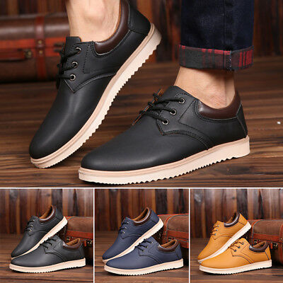 Suede European style leather Lace up Shoes Men's oxfords Formal Casual uk Size