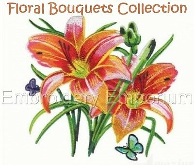 Floral Bouquets Collection - Machine Embroidery Designs On Cd