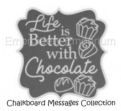 Chalkboard Messages Collection - Machine Embroidery Designs On Cd