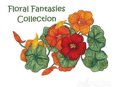 Floral Fantasies Collection - Machine Embroidery Designs On Cd