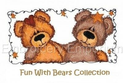 Fun With Bears Collection  - Machine Embroidery Designs On Cd