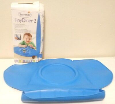 Summer Infant Tiny Diner 2 Portable Placemat, Blue 51023