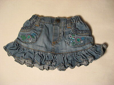 Baby Girl Denim Embroidered Skirt by The Children's Place Size 3-6 mos