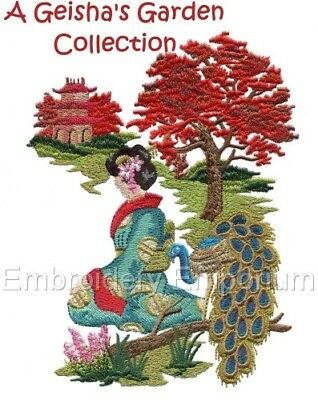 A Geisha's Garden Collection - Machine Embroidery Designs On Cd