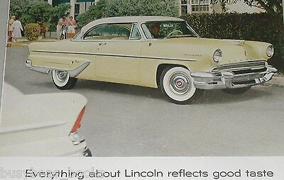 1955 Lincoln ad, Lincoln Capri coupe