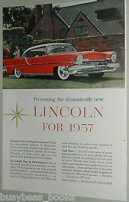 1957 Lincoln ad, Lincoln Sedan, Ford