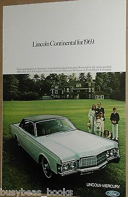 1969 Lincoln advertisement, Lincoln Continental