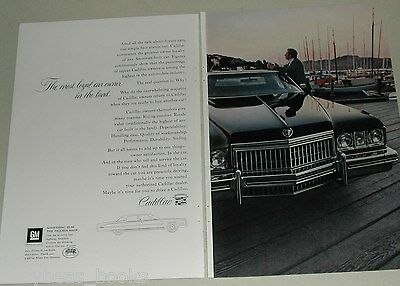 1973 Cadillac 2-page advertisement, Cadillac Fleetwood, full-page photo