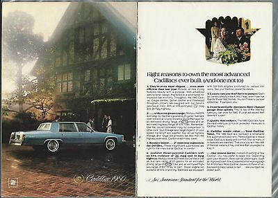 1980 CADILLAC Fleetwood Brougham 2-page advertisement, Cadillac FLEETWOOD ad