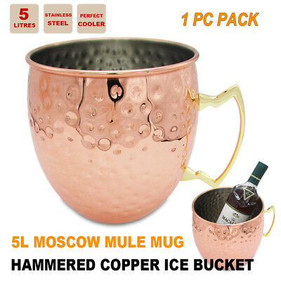 Champagne Wine Ice Bucket Bowl Moscow Mule Mug Water Beer Cup Drinks Cooler Jug
