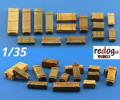 1/35 resin modelling and dioram accessories kit - wooden crates /13 pieces /35b1