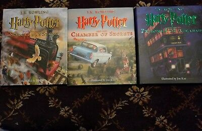 NEW Harry Potter: Complete Illustrated Edition J.K. Rowling Books 1 2 3