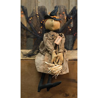Country HALLOWEEN ARABELLA WITCH DOLL Primitive Rustic Collectible Folk Art