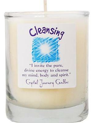 Crystal Journey's Soy CLEANSING Reiki Charged Candle in Jar!