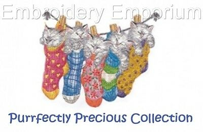 MACHINE EMBROIDERY DESIGNS ON CD OR USB PURRFECTLY PRECIOUS COLLECTION