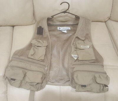 Size XL Columbia PFG Fly Fishing Vest Mesh Wading Sport Angling Deep Sea Size XL