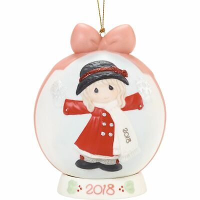 """Precious Moments """"Have A Magical Holiday Season"""" 2018 Dated Ball Ornament"""