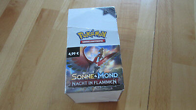 Pokemon Sonne & Mond / Nacht in Flammen 18 Booster  (1Display)