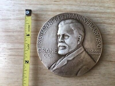 Vintage 75th ANNIVERSARY CHICAGO CRANE CO. MEDALLION - BRONZE -