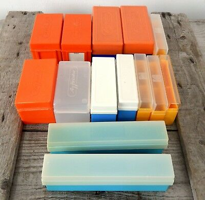 Lot of Mixed Vintage Photographic Photo Slide Storage Boxes 35mm
