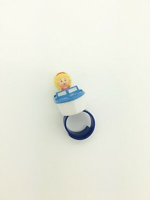 Vintage Polly Pocket 1989 Polly's Speedboat Ring - Cute!