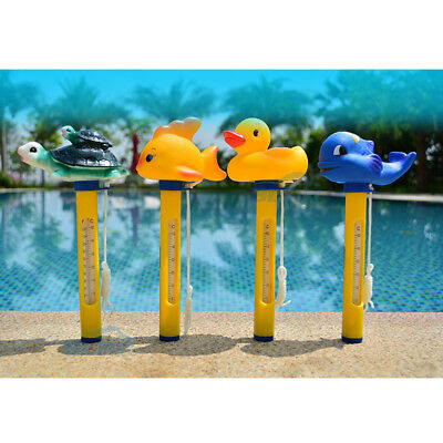 Pool&Spas Thermometer Floating Swimming Water Temperature with Rope Yellow