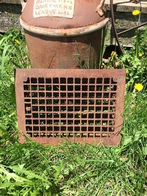 Antique Cast Iron Heat Grate Floor Vent Register Vintage Farmhouse 16x12