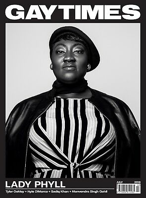 GAY TIMES 485 July 2018 - LADY PHYLL (2 more alternative covers available)