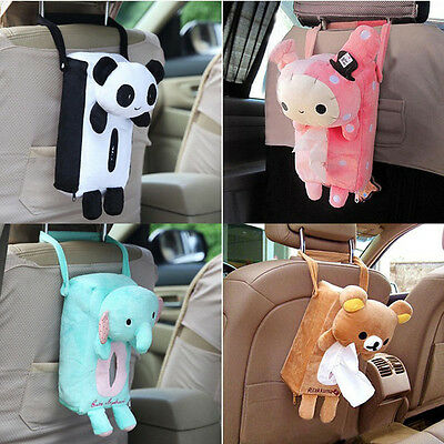 Cute Home Office Car Seat Back Tissue Box Paper Napkin Cover Holder Case Toy