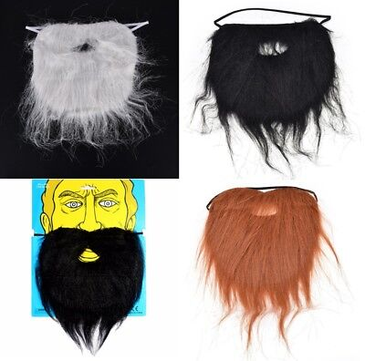Long Fake Beard Facial Hair Costume Party Halloween Fancy Dress False Pirate UK