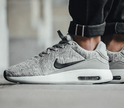 wholesale dealer 63547 72192 NIB MEN'S NIKE Air Max Modern Flyknit Shoes 876066 001 Wolf Grey, Black &  White