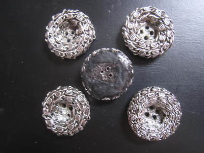 antique vintage French buttons (5) resin Sewing