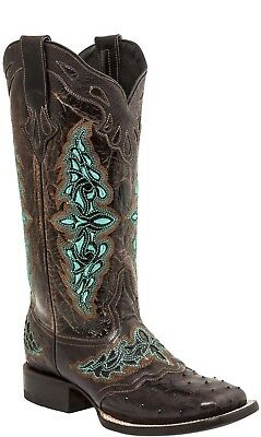e7bac5bb8fc LUCCHESE AMBERLYN M4883.WF Womens Brown Full Quill Ostrich Boots