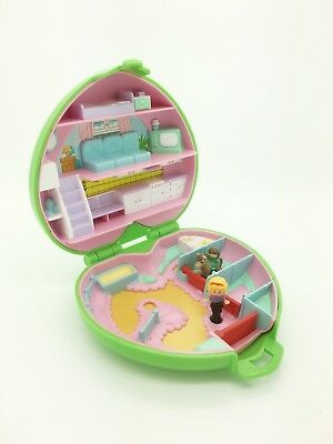 Vintage Polly Pocket 1989 Bluebird Toys Polly's Pony Club Green Ver Complete!