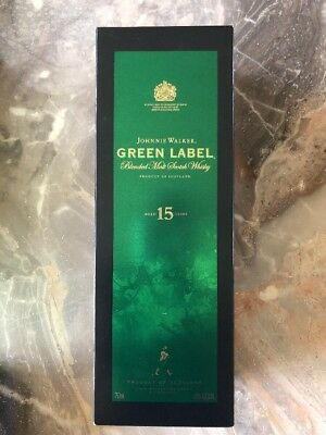 Johnnie Walker Green Label Scotch Whiskey EMPTY Box & Bottle  - 750 ml