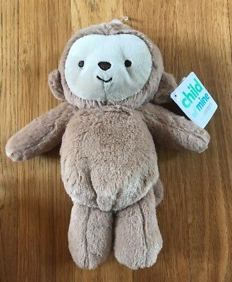 Carters Child of Mine Brown Monkey Plush Stuffed Baby Rattle Toy NEW WITH TAGS!