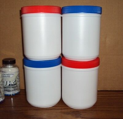 Quality HDPE Plastic White Container Jar Bottle 32 ounce w/100 mm Lid