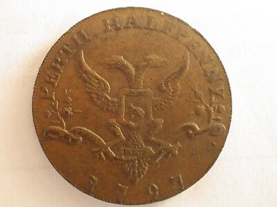 18TH CENTURY SCOTTISH TOKEN -PERTHSHIRE -CITY ARMS 1797 1/2d