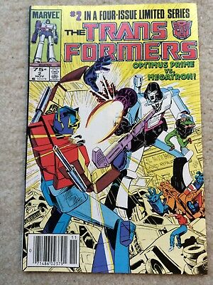 Transformers #2 *Optimus Prime Vs. Megatron!* 1st Print
